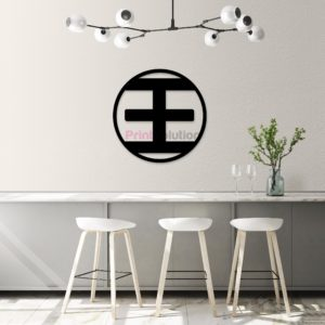 Wang Family Wall Art Signage - Black Acrylic