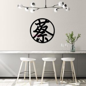 Tsai Family Wall Art Signage - Black Acrylic