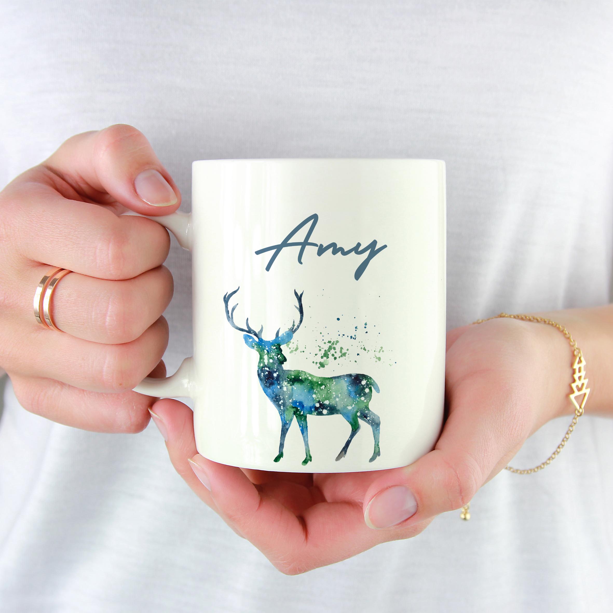 10001A - Abstract Deer Design Mug