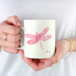 10002A - Abstract Dragonfly Design Mug
