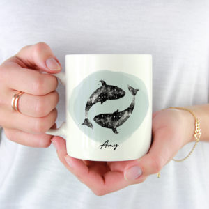 10003A - Abstract Dolphin Design Mug
