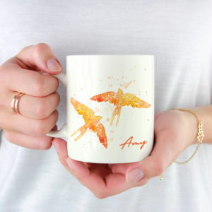 10005A - Abstract Dove Design Mug