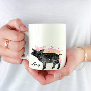 10006A - Abstract Pig Design Mug