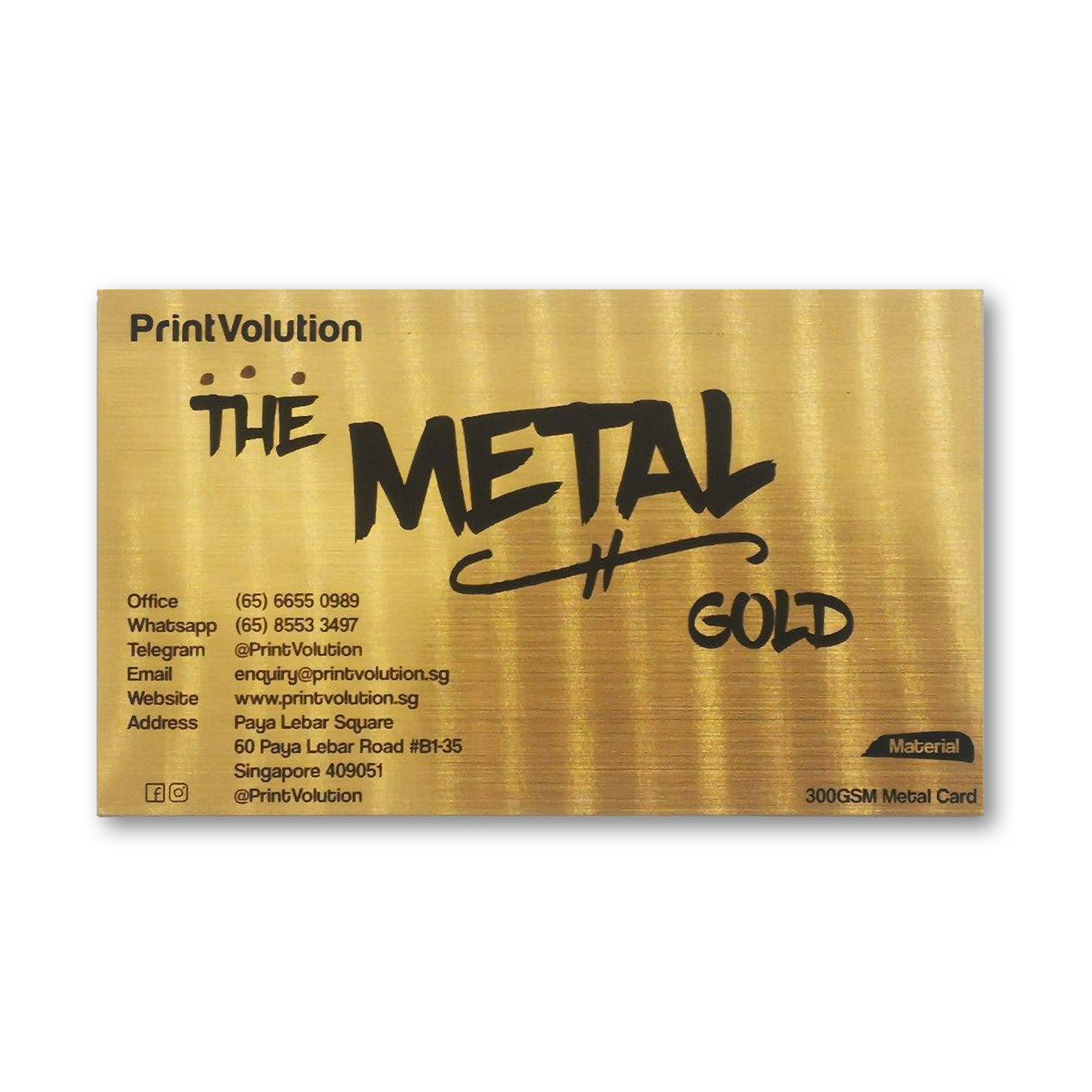 Metal Brush Name Card