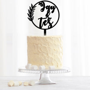 Custom Couple Name Cake Topper