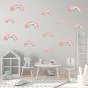 Rainbow Fabric Decal