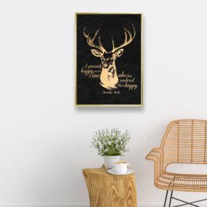 Deer - Framed Foil Poster