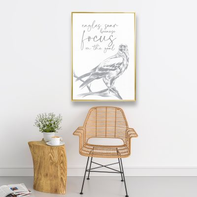 Eagle - Framed Foil Poster