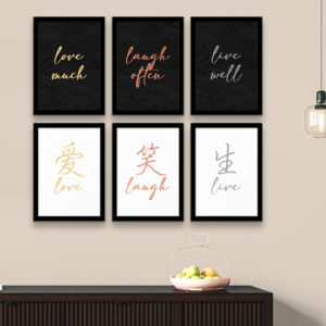 Live. Laugh. Love - Framed Foil Poster