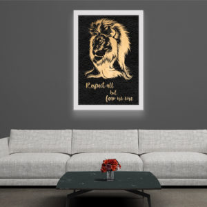 Lion - Framed Foil Poster