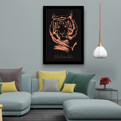 Tiger - Framed Foil Poster