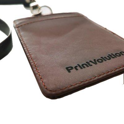 Card Holder - Dark Brown Leather