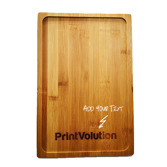 Custom Engraved Wooden Snack Tray