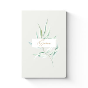 Notebook Green Leaves Cover