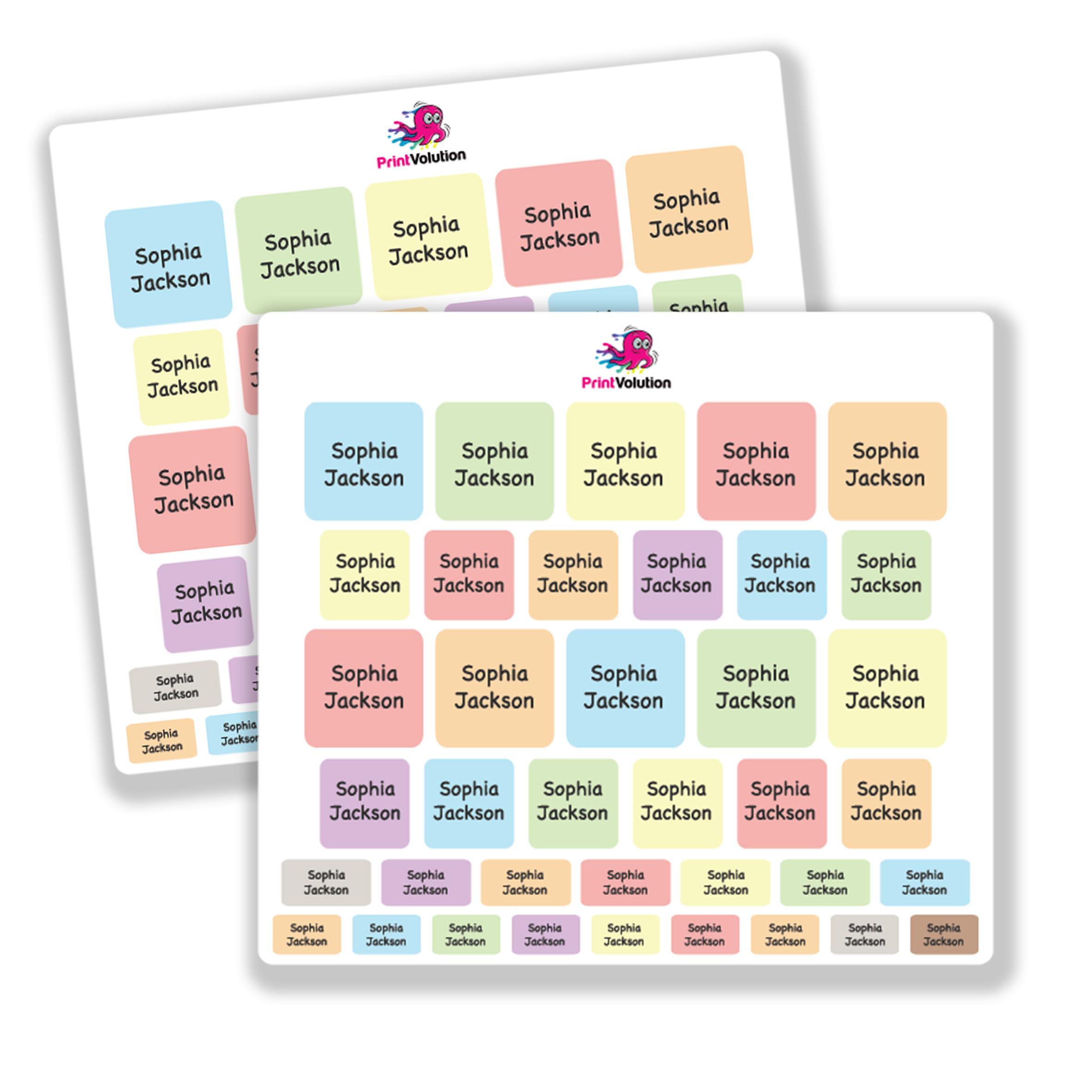 Pastel Name Labels