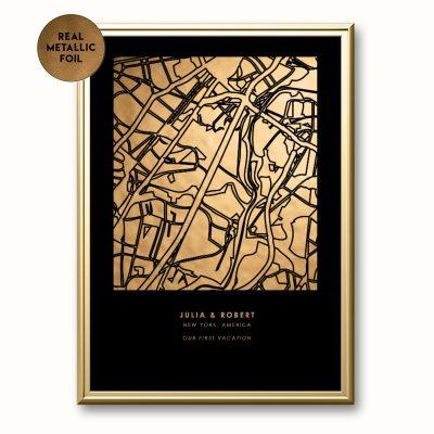 Personalized-Metallic-Map-Print