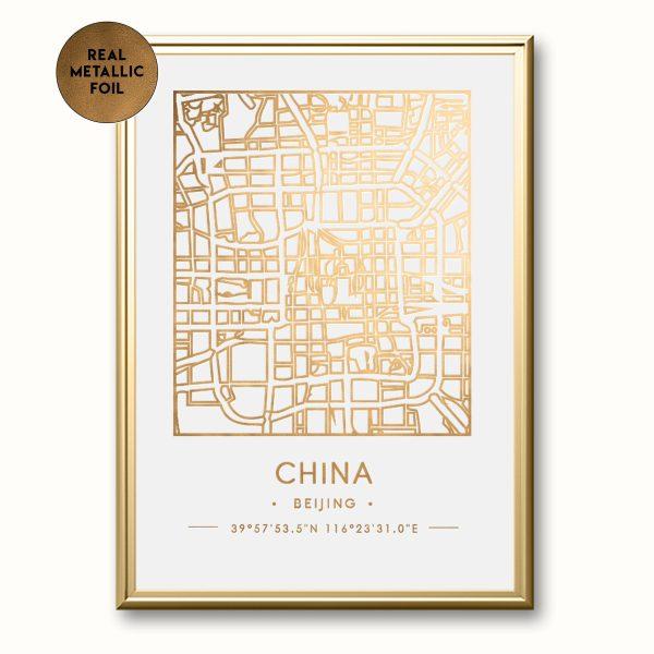 Personalized-Topographic-Metallic-Foil-Map-Print