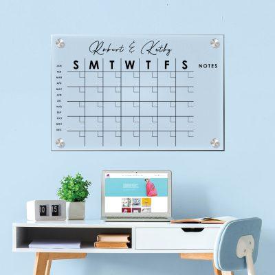Acrylic Monthly Calendar - Black