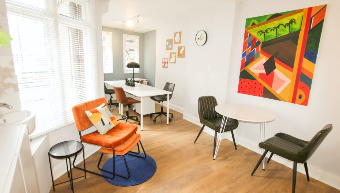 Defining a space with colors & shapes